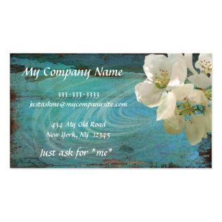 Elegante, moderno, floral azul de la pátina, tarje tarjetas de visita