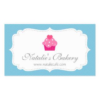 Elegante, moderno, magdalena, panadería tarjetas de visita
