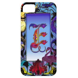 Elegante Monogramm-Kunst des Meerjungfrau-Fantasie iPhone 5 Cover