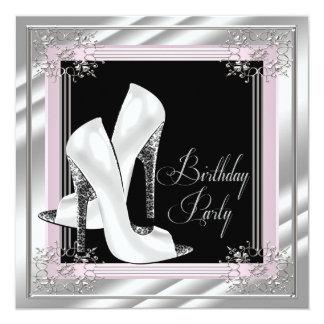 """Elegante palidezca - a la fiesta de cumpleaños invitación 5.25"""" x 5.25"""""""