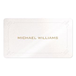 Elegante profesional clásico simple brillos perla tarjetas de visita