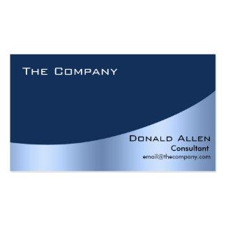 Elegante profesional del metal de acero azul tarjetas de visita