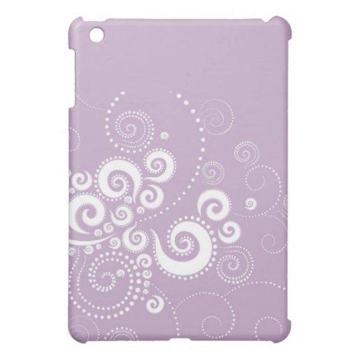 Elegante Purple Polka Dots iPad case