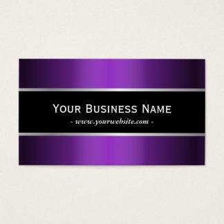 Elegante púrpura metálico moderno de la correa tarjetas de visita