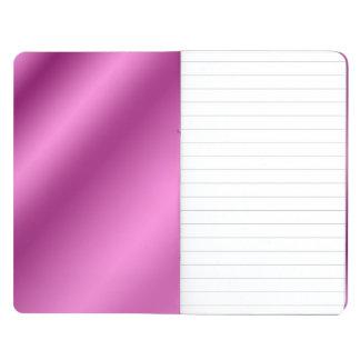 Elegante retro de seda rosado cuadernos