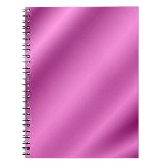 Elegante retro de seda rosado libretas
