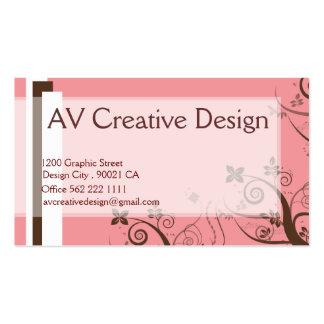 Elegante rosado - modificado para requisitos tarjetas de visita
