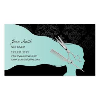 Elegante Scissor y peine la cita del estilista Tarjetas De Visita