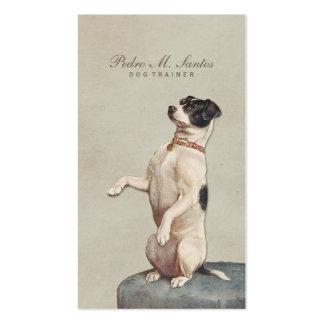 Elegante simple animal del vintage fresco del tarjetas de visita