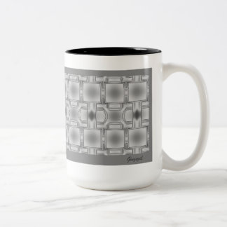 Elegante taza modelada gris