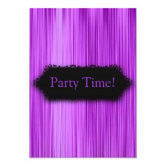 """Elegante toda la cortina púrpura 2 del negro de invitación 5"""" x 7"""""""