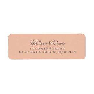 Elegante y elegante se ruboriza el rosa etiquetas de remite