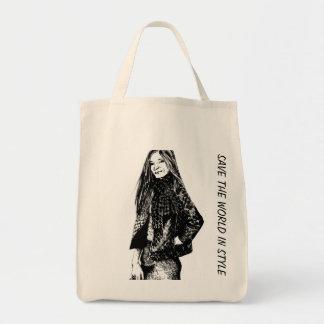 Elegante y sensato bolsa tela para la compra