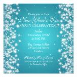 Elegantes de Noche Vieja del invierno el azul de Invitaciones Personales