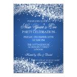 Elegantes de Noche Vieja el azul chispeante de la Comunicados Personalizados