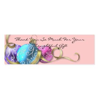 Elegantes en colores pastel del navidad le tarjetas de visita mini