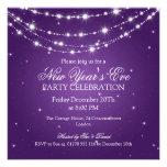 Elegantes la púrpura de cadena chispeante de Noche Invitación Personalizada