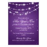 Elegantes la púrpura de cadena chispeante de Noche Anuncios Personalizados