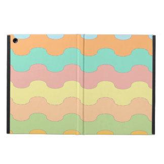 Elegantes olas mar de colores y geometría ondulada