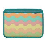 Elegantes olas mar de colores y geometría ondulada funda  MacBook