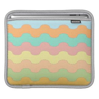 Elegantes olas mar de colores y geometría ondulada manga de iPad