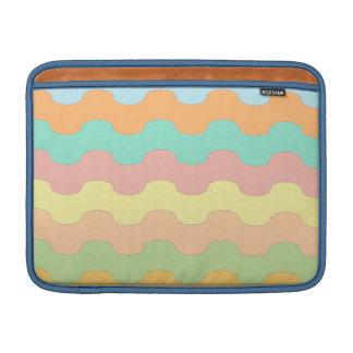 Elegantes olas mar de colores y geometría ondulada fundas MacBook