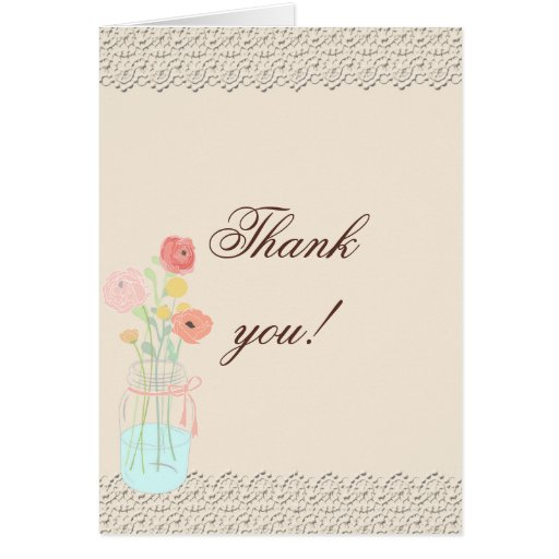 Elegantes rústicos en la foto coralina le agradece tarjeta de felicitación