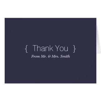 Elegantes simples personalizada le agradecen tarjeta de felicitación