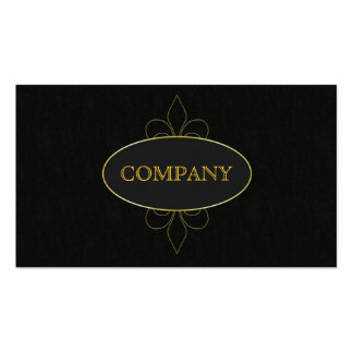 ELEGANTLY BLAC AND GOLD BUSINESS CARD