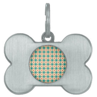 Elegantly Designed Seamless Cross Pattern Pet Tag