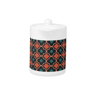 Elegantly Designed Seamless Cross Pattern Teapot