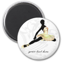 elegantly dressed ballerina in ivory magnet
