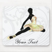 elegantly dressed ballerina in ivory mouse pad
