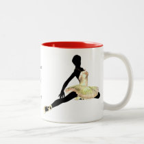 elegantly dressed ballerina in ivory Two-Tone coffee mug
