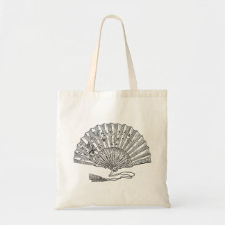 Elegantly historical Lady s fan Canvas Bags