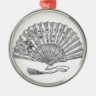 Elegantly historical Lady's fan Metal Ornament