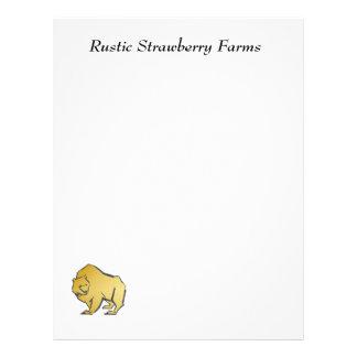 Elegantly Luxurious Gold Bear Letterhead