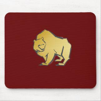 Elegantly Luxurious Gold Bear Mouse Pad