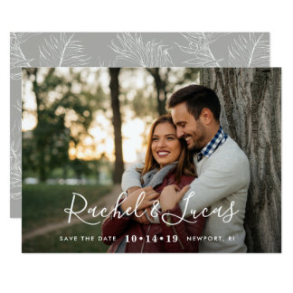 Elegantly Penned | Photo Save the Date Card