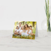 Elegantly Scripted Mother's Day Photo Card