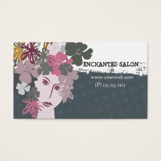Elegat Female Blooming Spring Flower Goddess Business Card