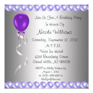 Elegent Purple Party Invitation