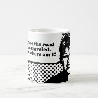 Elegí el camino viajé menos taza básica blanca