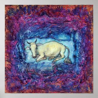 elegía blanca de la vaca póster