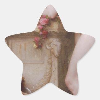 Elegía de William-Adolphe Bouguereau Pegatina En Forma De Estrella