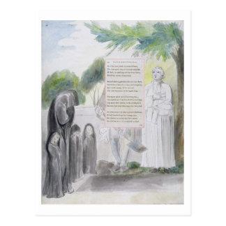"""""""Elegía escrita en un cementerio del país"""", diseño Tarjeta Postal"""