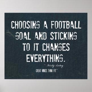 Elegir un poster de la meta del fútbol en dril de