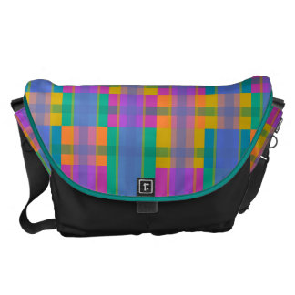 elegnat and colorful tartan courier bags