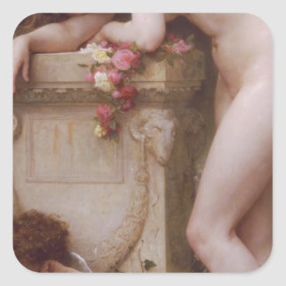 Elegy by William-Adolphe Bouguereau Square Sticker