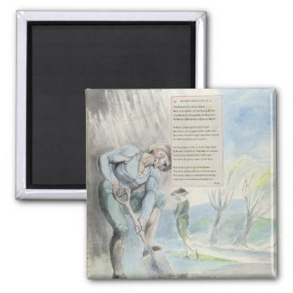'Elegy written in a Counrty Church-Yard', design 1 2 Inch Square Magnet